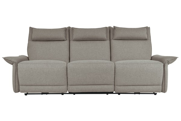 Home Elegance Linette Taupe Power Double Reclining Sofa HE-9819TP-3PWH