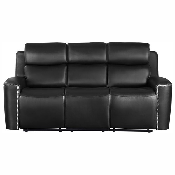 Home Elegance Altair Black Double Reclining Sofa HE-9827BLK-3