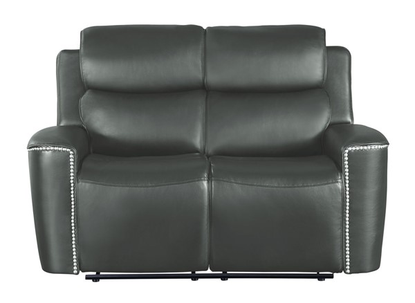 Home Elegance Altair Gray Double Reclining Love Seat HE-9827GRY-2