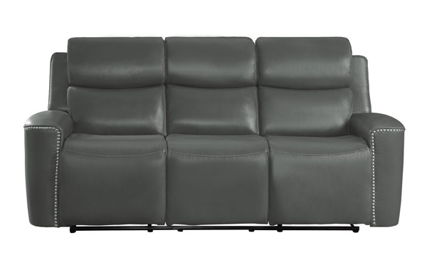 Home Elegance Altair Gray Double Reclining Sofa HE-9827GRY-3