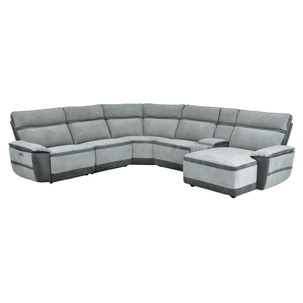 Home Elegance Hedera Gray 6pc Sectional Set HE-9828-6LR5R-SEC