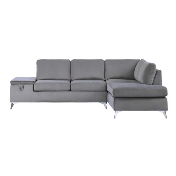 Home Elegance Radnor Gray 2pc Sectional Set HE-9847GY-SC-SET