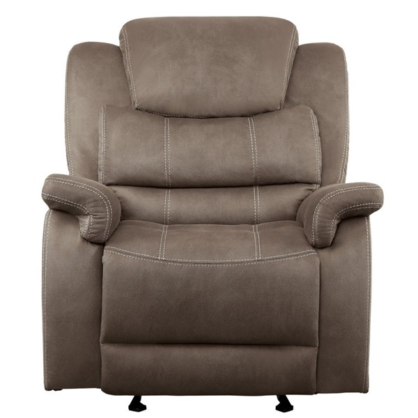 Home Elegance Shola Chocolate Glider Reclining Chair HE-9848BR-1