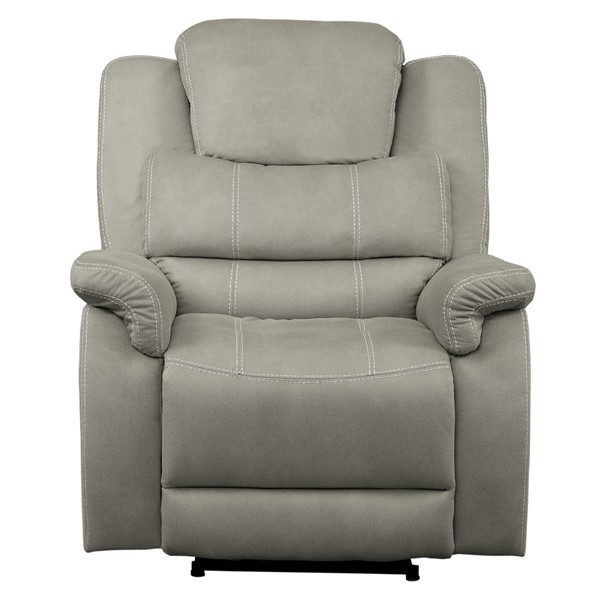Home Elegance Shola Gray Power Reclining Chair HE-9848GY-1PWH