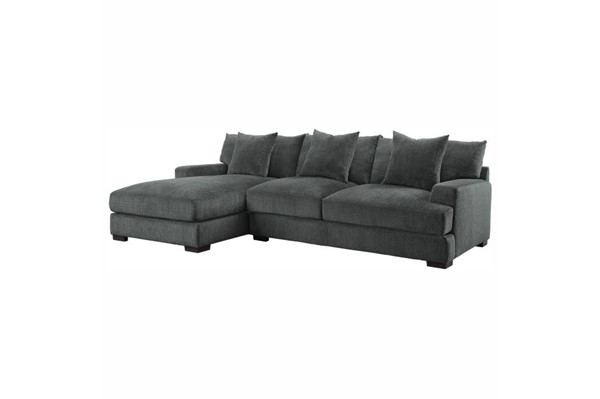 Home Elegance Worchester Gray LAF 2pc Sectional Set HE-9857DG-2LC2R-SEC