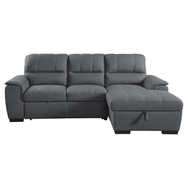 Home Elegance Andes Gray 2pc Sectional Set HE-9858GY-SC-SET