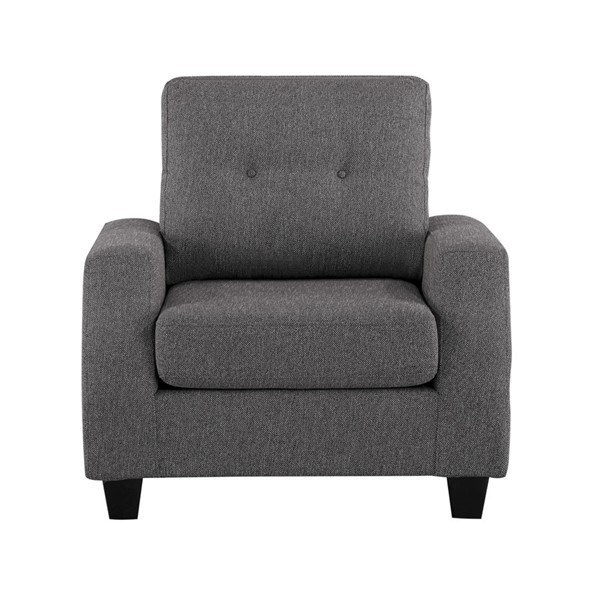 Home Elegance Vossel Gray Chair HE-9899GY-1
