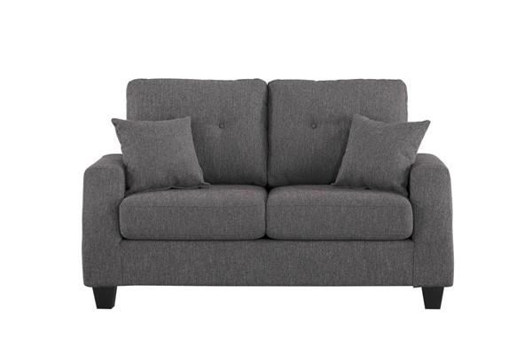 Home Elegance Vossel Gray Love Seat HE-9899GY-2