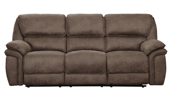 Home Elegance Hadden Brown Power Double Reclining USB Sofa HE-9903DB-3PW