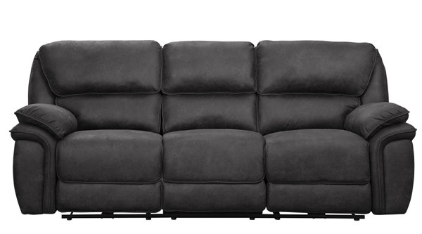 Home Elegance Hadden Gray Power Double Reclining USB Sofa HE-9903GY-3PW