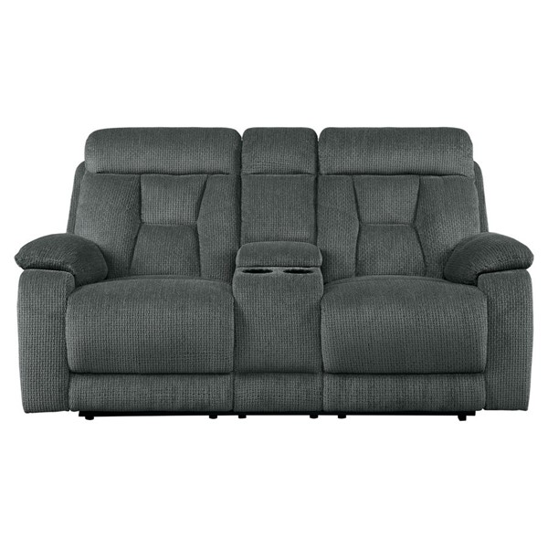 Home Elegance Rosnay Double Reclining Console Love Seats HE-9914-LS-VAR