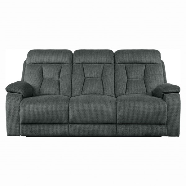Home Elegance Rosnay Gray Double Reclining Sofa HE-9914-3