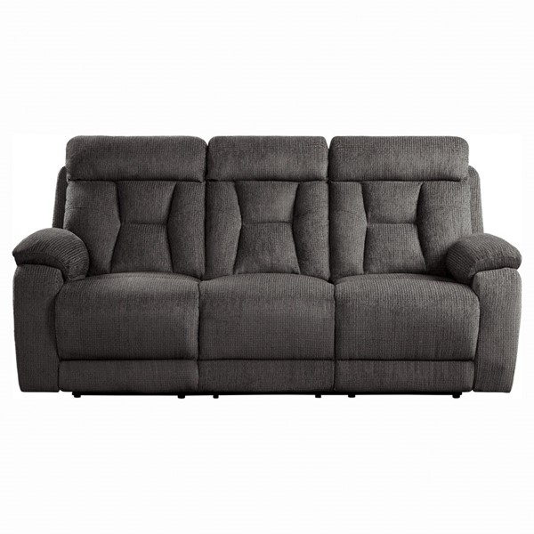 Home Elegance Rosnay Chocolate Double Reclining Sofa HE-9914CH-3