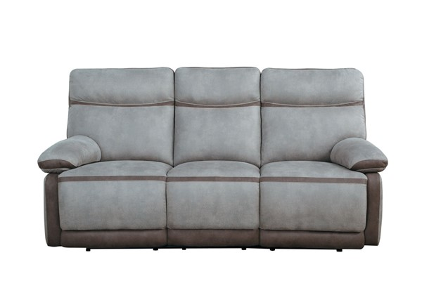 Home Elegance Barilotto Gray Reclining Sofa HE-9920RF-3PWH