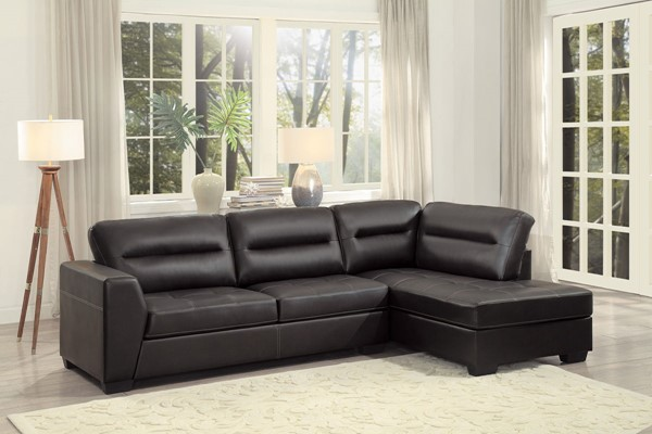 Home Elegance Terza Vinyl 2pc Sectional HE-9924-SEC-VAR