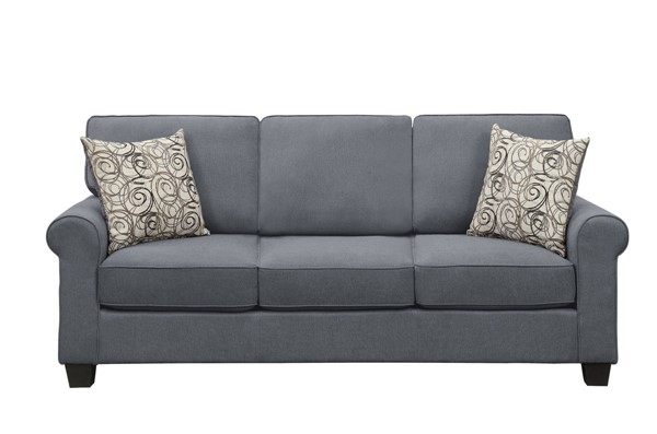 Home Elegance Selkirk Gray Fabric Sofa HE-9938GY-3
