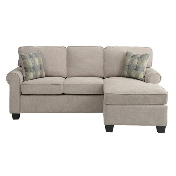 Home Elegance Clumber Sand Fabric Reversible Chaise HE-9967-3SC
