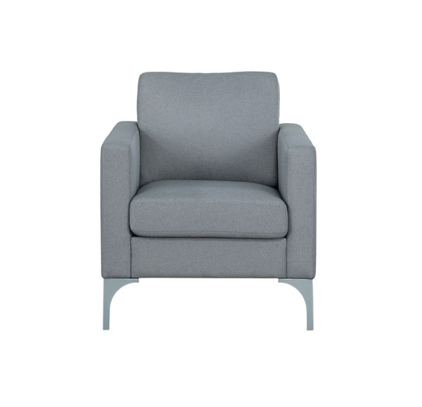 Home Elegance Soho Light Gray Chair HE-9979GRY-1