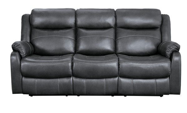 Home Elegance Yerba Dark Gray Fabric Reclining Sofa HE-9990GY-3