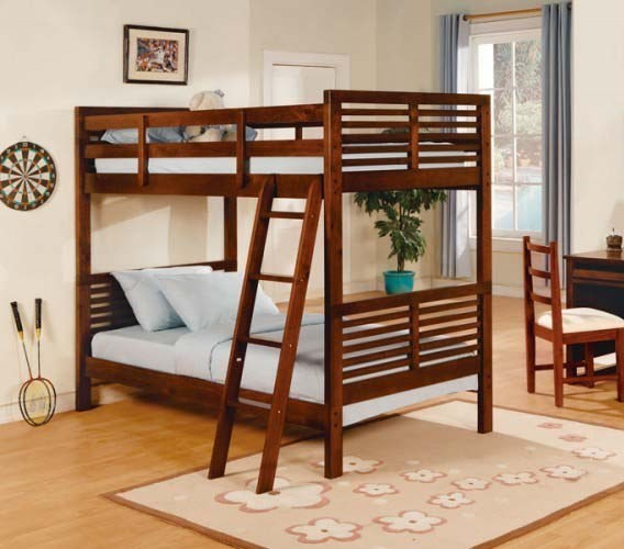 Home Elegance Paula Cherry Bunk Bed HE-B1348-1