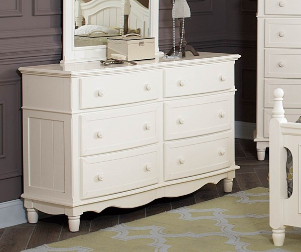 Clementine Classic White Wood Drawer Dresser HE-B1799-5