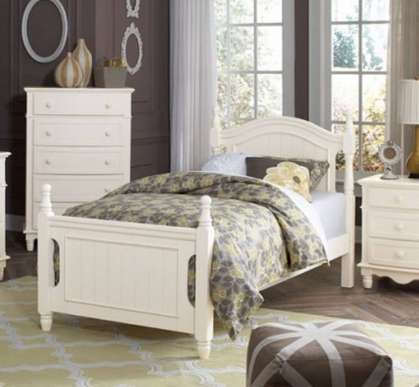 Clementine Classic White Wood Twin Platform Bed HE-B1799T-1