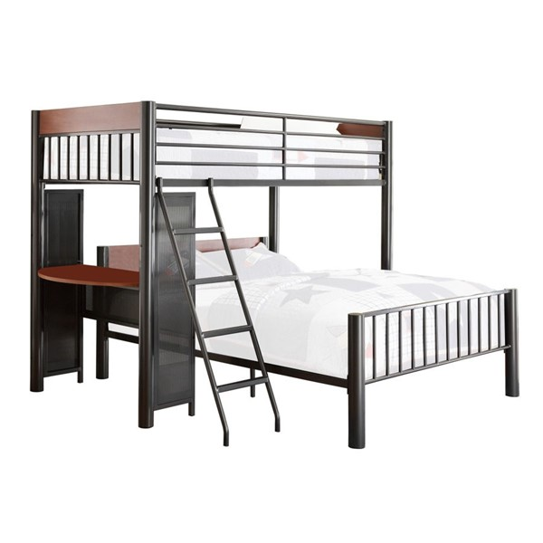 Home Elegance Division Twin Over Full Loft Bed HE-B2008TF-1