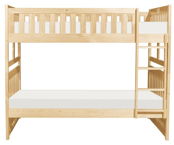 Home Elegance Bartly Natural Full Over Full Bunk Bed HE-B2043FF-1