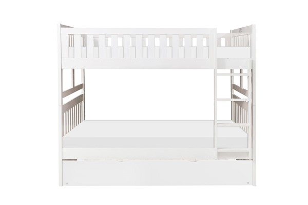 Home Elegance Galen White Full Over Full Trundle Bunk Bed HE-B2053FFW-1-R