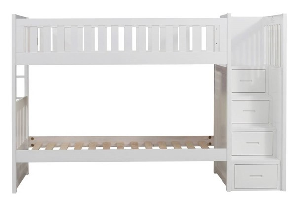 Home Elegance Galen White Bunk Bed HE-B2053SBW-1