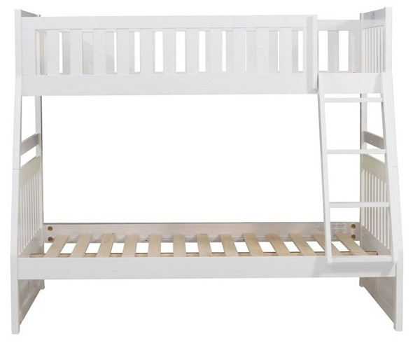 Home Elegance Galen White Twin Over Full Bunk Bed HE-B2053TFW-1