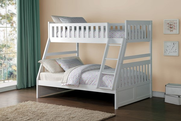 Home Elegance Galen 2pc Kids Bedroom Set with Twin Over Full Bunk Bed HE-B2053TFW-KBR-S5