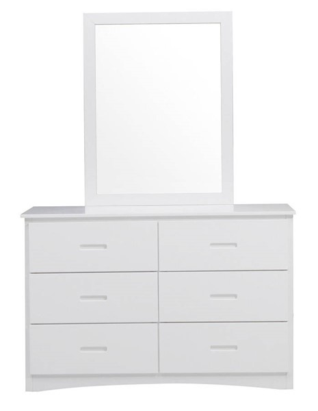 Home Elegance Galen White Dresser and Mirror HE-B2053W-DRMR
