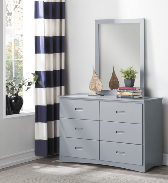 Home Elegance Orion Gray Dresser and Mirror HE-B2063-DRMR