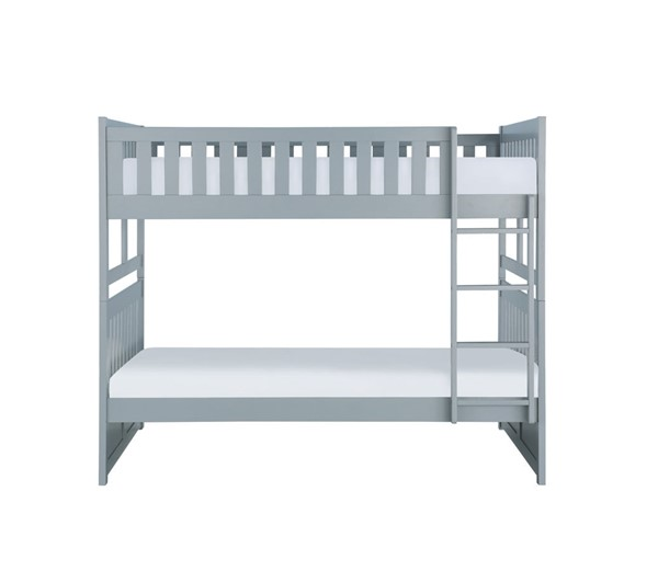 Home Elegance Orion Gray Full Over Full Bunk Bed HE-B2063FF-1