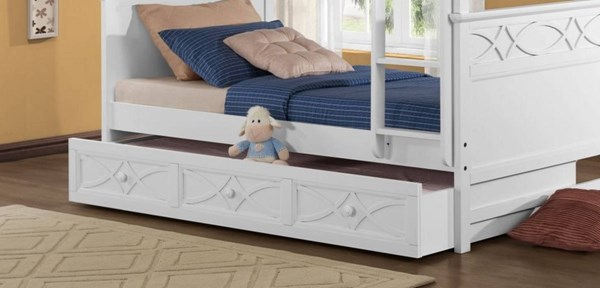 Sanibel Casual White Wood Trundle/Storage For Bunk Bed HE-B2119W-TR