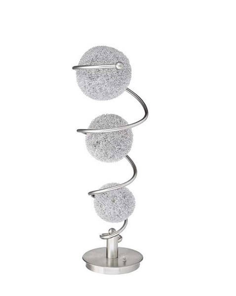 Home Elegance Lenci Satin Nickel Table Lamp HE-H11296