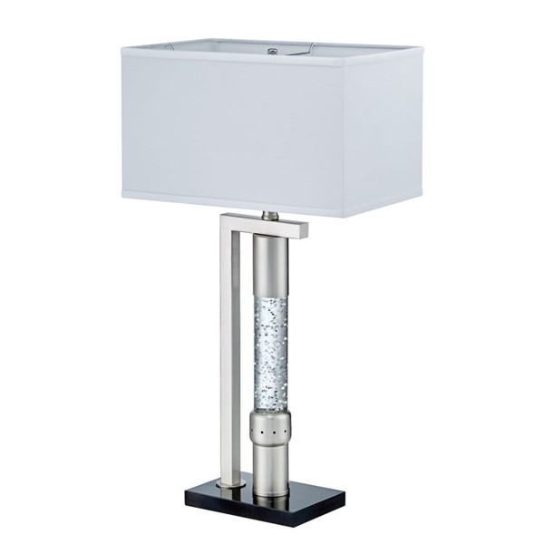 Home Elegance Jalen Satin Nickel Table Lamp HE-H11759