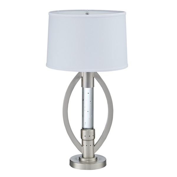 Home Elegance Lucian Satin Nickel Table Lamp HE-H11761