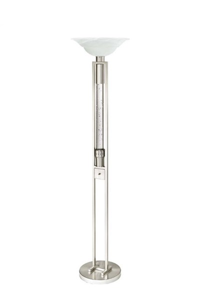 Home Elegance Lambart Satin Nickel Floor Lamp HE-H11765