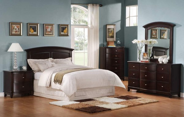 Chico Dark Cherry Wood Queen Full Headboard The Classy Home