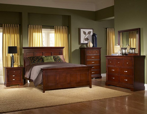 Glamour Espresso Hardwood Veneers Glass Master Bedroom Set HE-1349