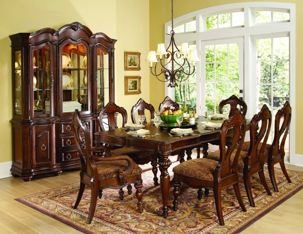 Prenzo Casual Warm Brown Wood Rectangle 7pc Dining Room Set HE-1390-102-set