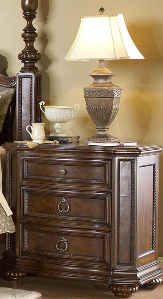 Prenzo Casual Warm Brown Wood Three Drawers Night Stand HE-1390-4