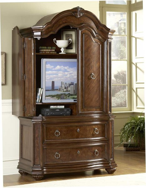 Prenzo Casual Warm Brown Wood Two Drawers Armoire HE-1390-7