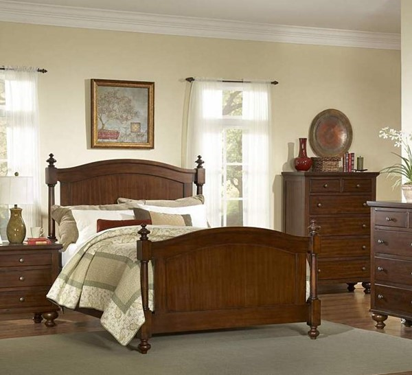 Aris Youth Warm Brown Cherry Wood Full Bed HE-B1422F-1