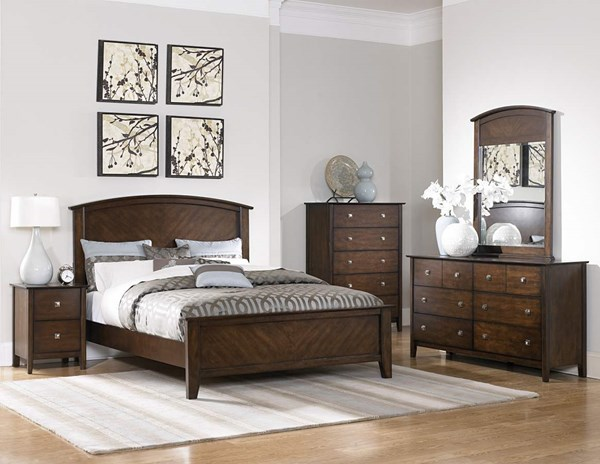 Cody Espresso Wood Metal Glass 5pc Bedroom Set w/King Bed HE-1732-1-set1