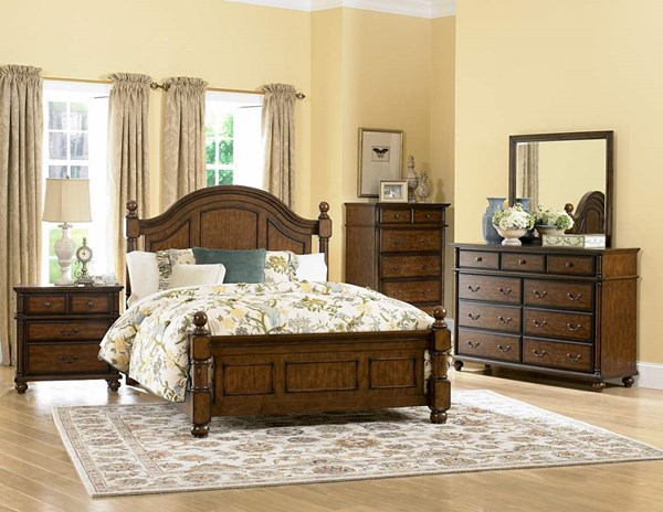Home Elegance Langston Cherry Master Bedroom Set HE-1746