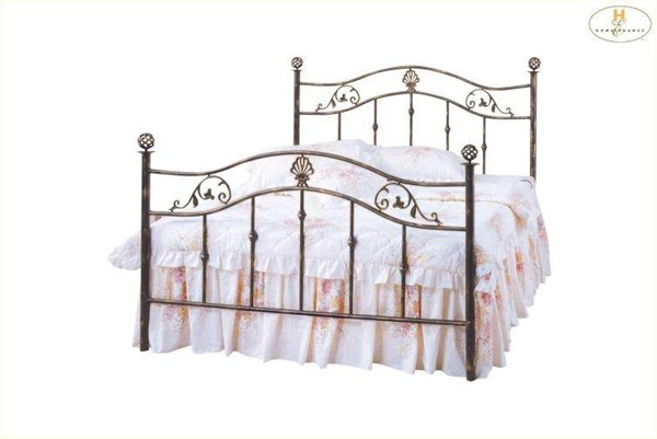 Metaline Dark Bronze Metal King Headboard HE-2862K