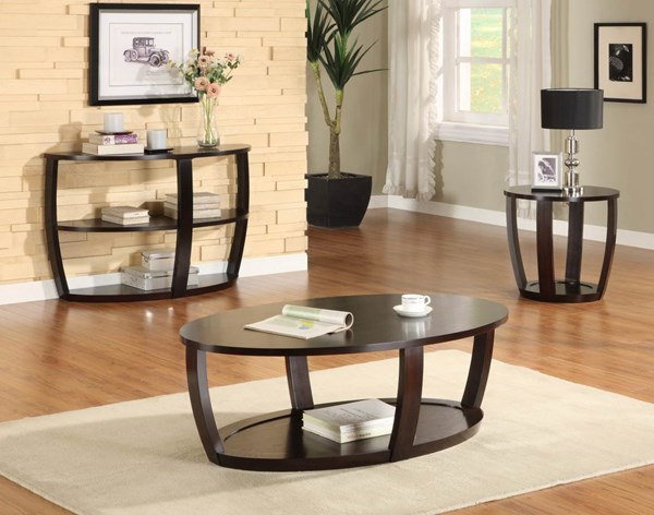 Patterson Espresso Wood Coffee Table Set HE-3296OT